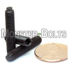 """#10-32 x 1"""" - Qty 10 - Half Dog Point Socket SET / GRUB SCREWS - Alloy Steel"""