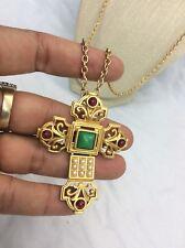 Beautiful Vtg Elizabeth Taylor For Avon Gripoix Faux Pearl Cross Necklace