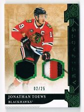 2019-20 Artifacts Materials Jersey & Patch Emerald #132 Jonathan Toews 02/25 !!