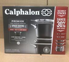 Calphalon Premier Space Saving Hard Anodized Nonstick 4.5 Qt. Covered Soup Pot