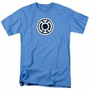 Green Lantern Blue Lantern Logo T Shirt Mens Licensed DC Comic Tee Carolina Blue