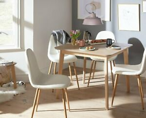 Habitat Skandi Light Oak Veneer 4 Seater Dining Table
