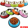 Durable Pet Bowl Puppy Dog Cat Dish Stainless Steel Water Food Feeder For Pet#OW