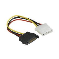 """Kentek 7"""" SATA to Molex 5.25 Power Cord Serial ATA Male to IDE LP4 Female PC HDD"""