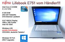 Fujitsu Lifebook E751 i3 2330M 2,2GHz 4GB 250GB-HD W10 (e751-4g250w1/DSCE035366)