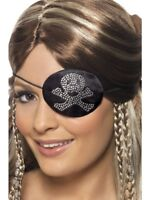 Pirates Eyepatch Adult Womens Smiffys Fancy Dress Costume Accessory