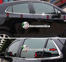 modanature 8 Profili in Acciaio Cromato Raschiavetri Finestrini Porte Opel Mokka