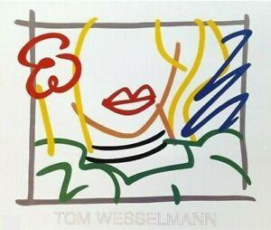 Tom Wesselmann MONICA Lithograph Fine Art Poster Printer Private Collection RARE