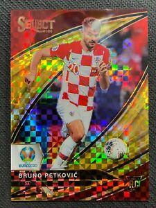 2020 PANINI SELECT UEFA BRUNO PETKOVIC RC GOLD CHECKERBOARD SP 07/10 CROATIA