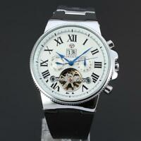 FORSINING Automatic Mechanical Movement Skeleton Watch Men's Date Wristwatch
