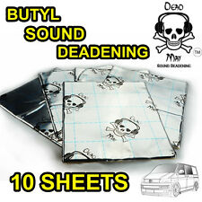 10 SOUND DEADENING / PROOFING DEAD MAT FAT 2.2MM THICK BUTYL FOIL TAPE DYNA MIC