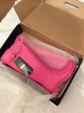 Nuevo Y En Caja Hunter Original Tall Wellies Fucsia UK 8 Botas Festival Freepost