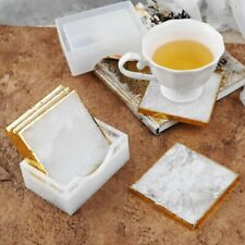 Coasters Silicone Molds UV Epoxy Resin Mould Tray Cup Mat Mold DIY White