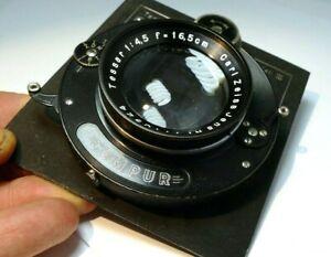 Carl Zeiss Tessar 16.5cm f4.5 Lens Compur Linhof III Munchen Technika Board