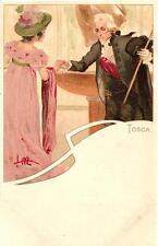 TOSCA di Puccini  ( 1 ) - Ediz. Ricordi - illustratore : Metlicovitz