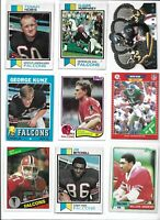 Atlanta Falcons Vintage Lot (30) Different w/ Rookies Bartkowski Rison Nobis EX
