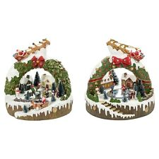LED Light Up Christmas Festive Village Illuminated Decor Wreath Ornament Scene