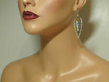 Alexis Bittar Gold Miss Havisham Pyrite Doublet & Crystal Kite Earrings.**NEW***