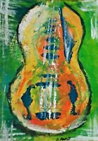 Original ACEO - Abstract - miniature acrylic painting