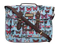 New Butterfly Flora Womens School Satchel Bag Messenger Ladies Handbag Crossbody