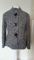 Per Una Wool Blend Italian Fabric Coat Smart Jacket Size 16