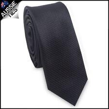 Men's Black Zigzag Textured Skinny Mens Tie