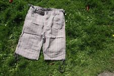 Cotton shorts from H&M, knee length, checkered greys, browns, & pink. Size 10