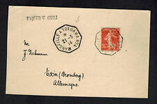 1914 France Postcard Cover to USA SS Chili Paqueboat Yokohama Cancel to Germany