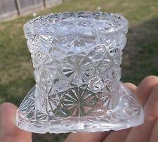 NICE CLEAR GLASS FANCY HAT TOOTHPICK HOLDER 1910'S ERA SHINY CLEAN L@@K