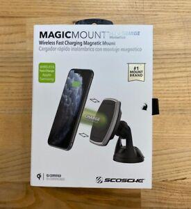 SCOSCHE MagicMount Magnetic Car DASH Smartphone Charging Mount-Black & Silver
