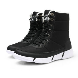 Men's Winter Shoes Warm Fur Waterproof Mid Calf Lightweight  Snow Boots new