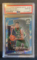 2017-18 Donruss Optic Fast Break Holo #198 Jayson Tatum Celtics RC Rookie PSA 10