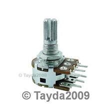 2 x 200K OHM Linear Dual Taper Rotary Potentiometers B200K 200KB POT ALPHA
