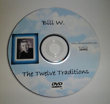 Bill W. 12 Trad AA ALCOHOLICS ANONYMOUS DVD SPEAKER TAPE FREE SHIPPING RARE