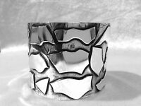 Bangle 925 Sterling Silver Abstract Cuff Ladies Womens Jewellery Hand Crafted