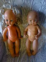 """LOT=La poupée 'Italienne vintage  et le poupon 'Espagnol """"Famosa !! """""""