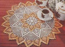 Vintage Crochet PATTERN Pineapple Doily Mat Centerpiece