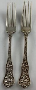 2 pc lot Tiffany & Co Sterling Olympian Dinner Forks  ***NO RESERVE***