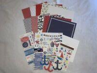 Scrapbook Kit Lot Yacht Sailing Cruise DCWV Authentique Sticko Simple Stories 2