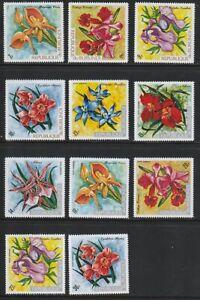 Burundi   1972   Sc # 411-21   Orchids   VLH   (54754)