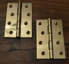 """10 Pairs Solid Brass 4"""" Extruded Washered & Polished Butt Hinges SPECIAL OFFER"""