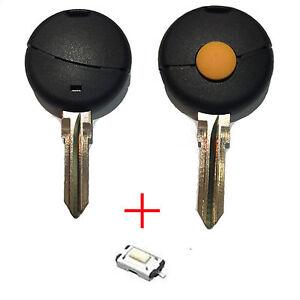 Für Smart 450 Schlüssel Funkschlüssel Autoschlüssel Gehäuse + Rohling 1 Tasten