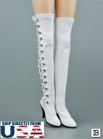 "1/6 Over the Knee Lace Up High Heel Boots HOLLOW For 12"" PHICEN Female Figure"