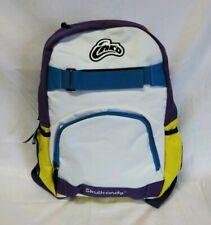 Skullcandy ink'd Back Pack book bag Backpack Audio Pocket Purple Yellow Blue
