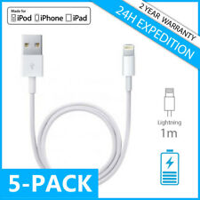 5IN1 IPHONE LIGHTNING CHARGEUR CHARGER CABLE 1M FOR IPHONE 5 6 7 8 X iPAD IPOD