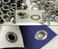 100x selbstschneidende Ösen aus V2A rostfreie Edelstahl 8mm inox