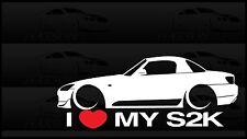 I Heart My S2000 Sticker Love Slammed Low JDM Hard Top S2k Honda F20C