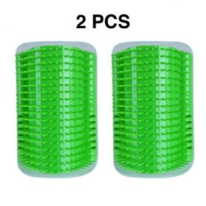 AMillionPaws Cat Self Groomer 2Pk Wall Comb Grooming Massage in Green