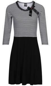 Pussy  Deluxe 🖤FINE STRIPES GIRL DRESS Kleid