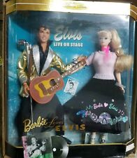 Ken and Barbie Doll as Barbie Loves Elvis Giftset NIB Collector Edition 1996 Vtg